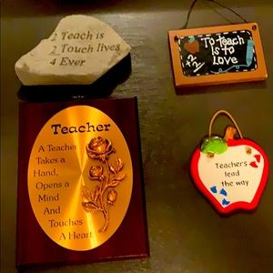 3D Teachers collection of souvenirs